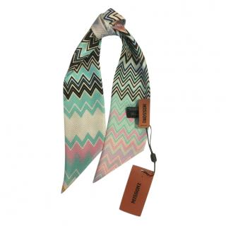 Missoni Zig-Zag Print Silk Twilly