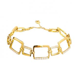 Bespoke 18ct Yellow Gold Diamond Link Bracelet
