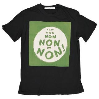 Christian Dior Non C Est black T-shirt