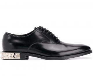Philipp Plein City black leather oxford shoes