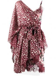 Faith Connexion lace floral asymmetric mini dress