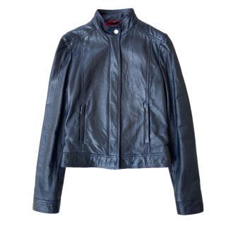 Gucci soft black leather jacket