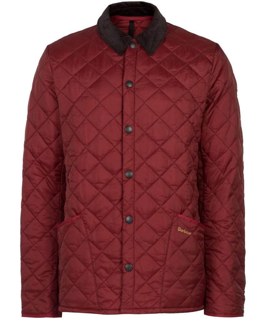 Barbour Men's Red Quilted Eskdale Jacket