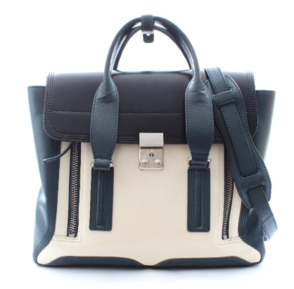 Philip Lim Two-Tone Leather Pashili Satchel Bag