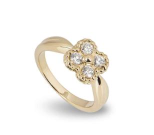 Van Cleef & Arpels Diamond Set Alhambra Ring