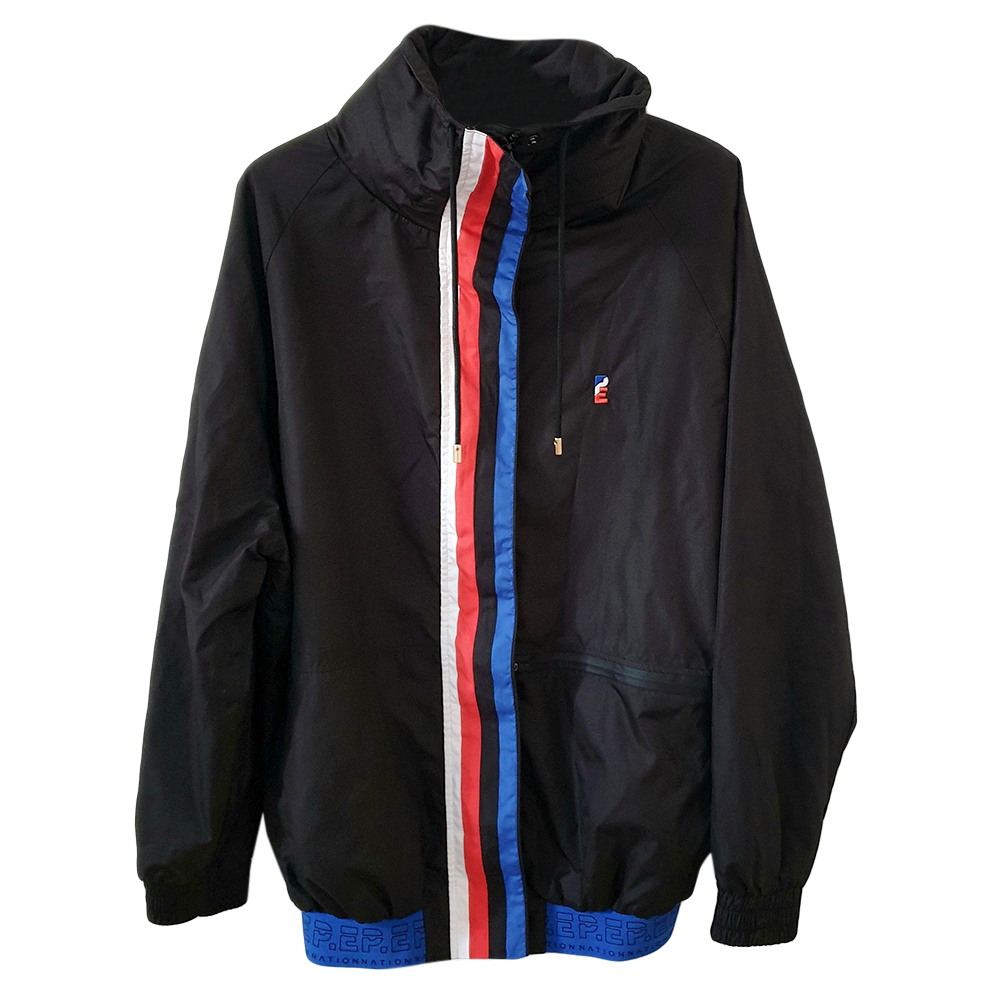 P E Nation black zip up running jacket