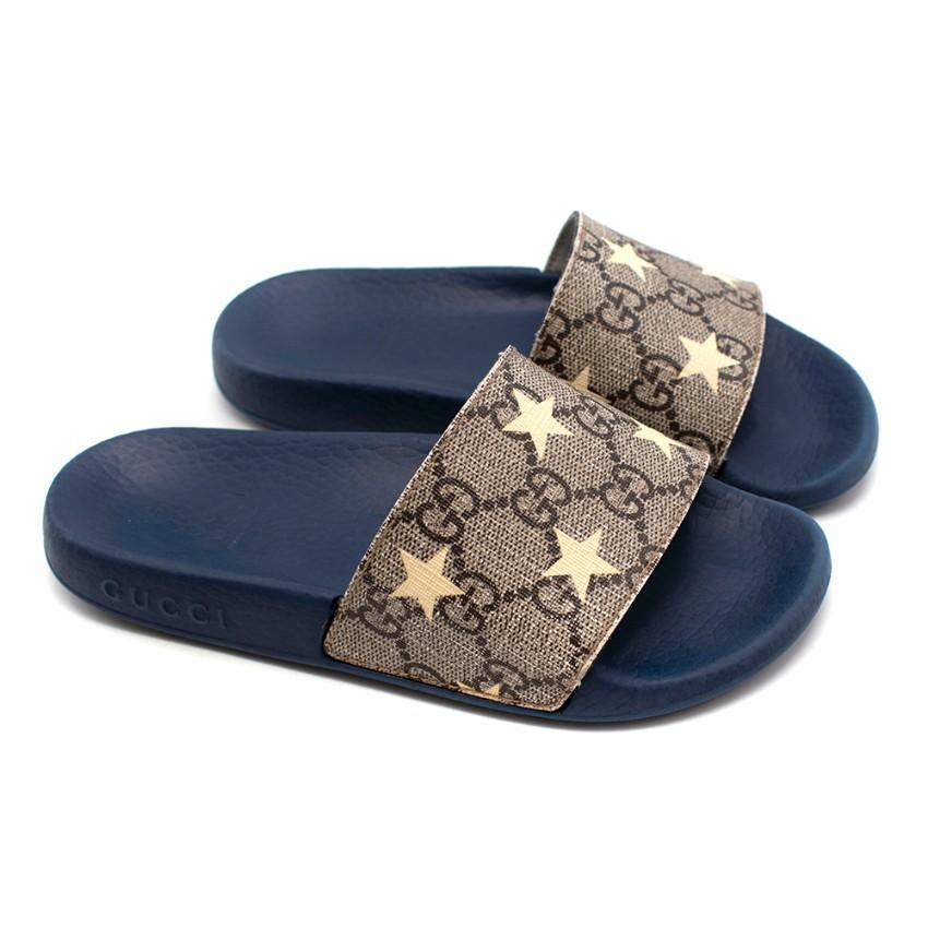 Gucci GG Monogram Stars Kids Sliders