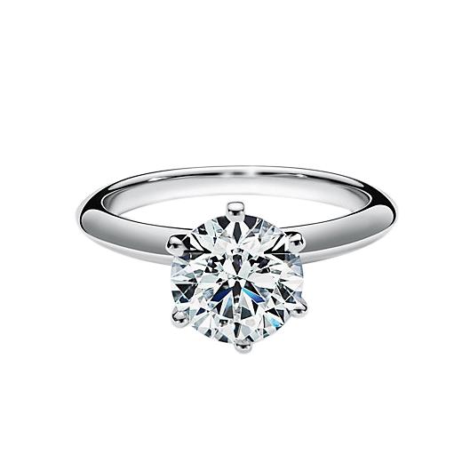 Tiffany & Co. Platinum Set Diamond Engagement Ring