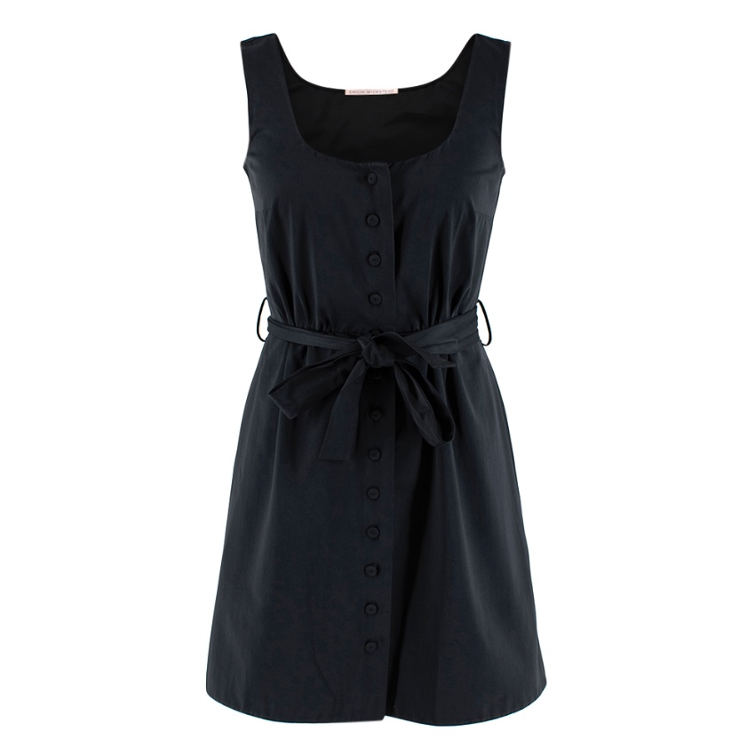 Emilia Wickstead Black Sleeveless Button-Up Dress