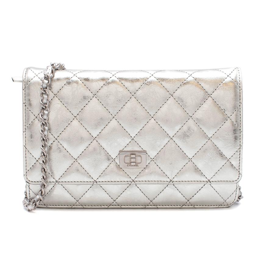 Chanel Metallic Aged Calfskin Reissue Wallet On Chain