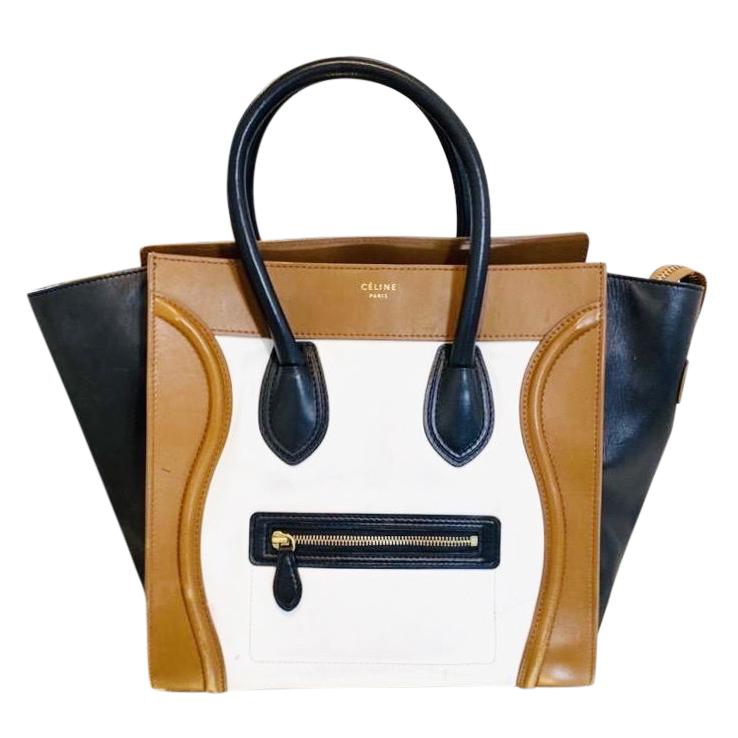 Celine Tri Colour leather mini luggage bag