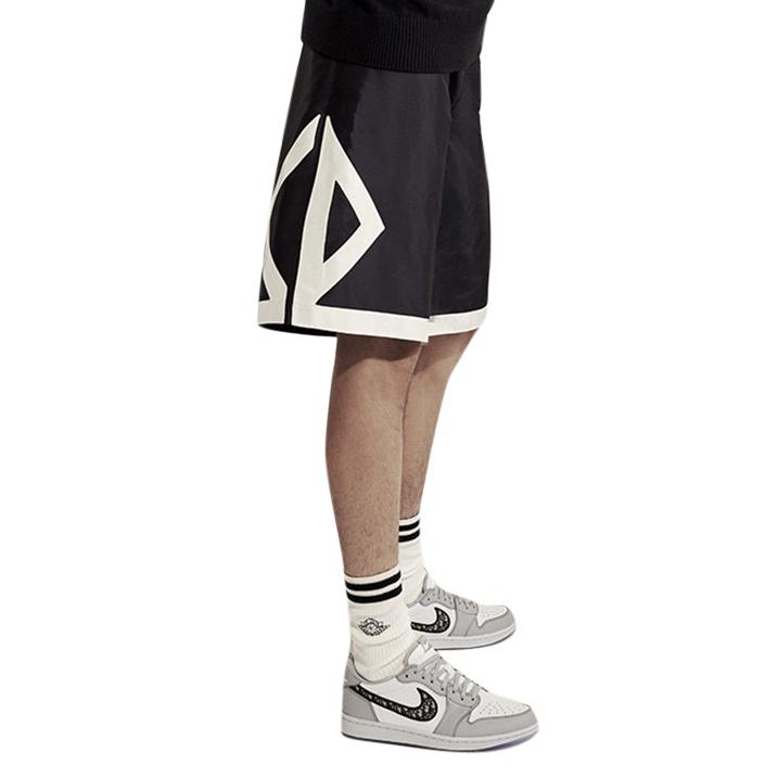 Dior x Air Dior navy silk shorts
