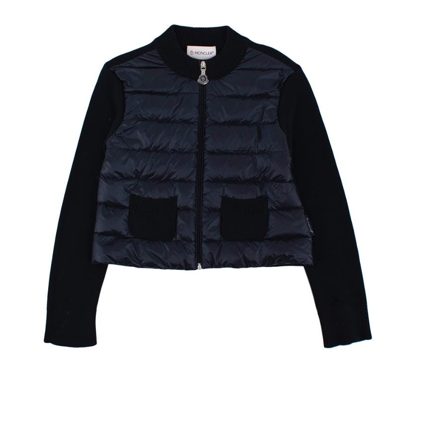 Moncler Kid's Navy Quilted Fleece Jacket