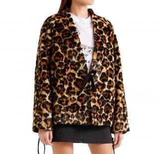 MCQ Alexander McQueen faux fur leopard jacket