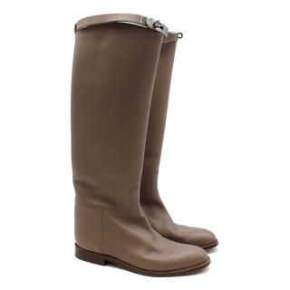 Hermes Etoupe Kelly Riding Boots