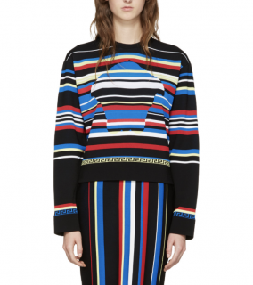 Versace multicolor New York striped pullover jumper