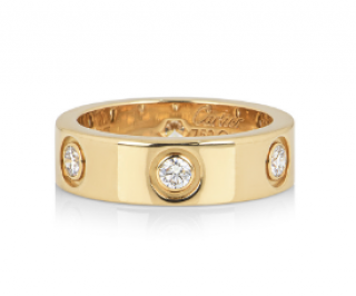 Cartier Love Ring, 6 Diamonds in Yellow Gold