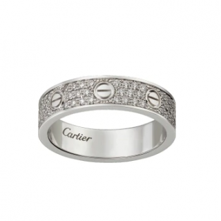 Cartier Love Wedding Band - Diamond Paved in White Gold