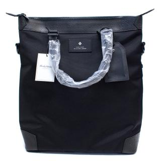 Hardy Amies black canvas messenger bag