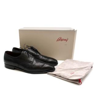 Brioni Mens Leather Lace-Up Oxfords