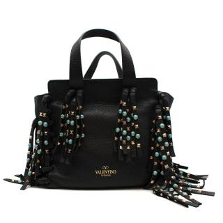 Valentino Rolling Rockstud Tassel Tote Bag