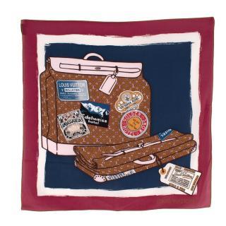 Louis Vuitton Travel Bag Silk Printed Scarf