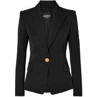 Balmain Black Single Breasted Tailored Jacket