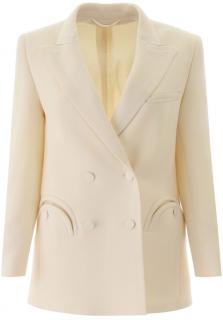 Blaze Milano Ivory Tailored Everyday Wool Jacket