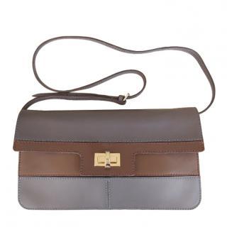Max Mara Leather Two-Tone Crossbody Bag