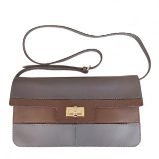 Max Mara Leather Two-Tone Crossbody Bag