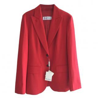 MaxMara red virgin wool jacket