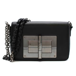 Tom Ford Black Lambskin Medium Natalia Shoulder Bag