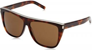 Saint Laurent SL1 COMBI 003 brown tortoiseshell sunglasses
