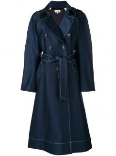 Temperley Matilde navy blue tailored coat