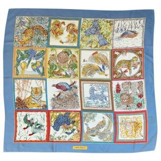 Salvatore Ferragamo multicolored animal print silk