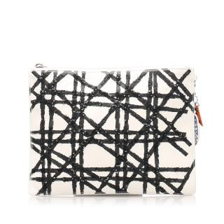 Dior Cannage White Leather clutch bag