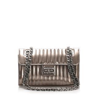 Chanel Straight Stitch Boy Patent Leather Flap Shoulder Bag
