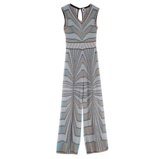 M Missoni Lurex Knit WIde Leg Jumpsuit