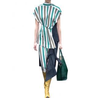 Loewe striped stretch jersey jacquard top