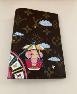 Louis Vuitton Limited Ed Xmas 2020 Vivienne Funfair passport cover