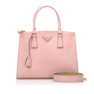 Prada Pink City Calf Galleria Satchel Bag