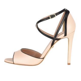 Diane Von Furstenberg Nude/Black Anais Sandals