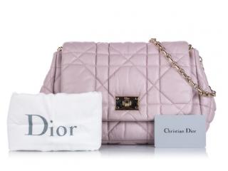 Dior Pink Cannage Milly La Foret Shoulder Bag