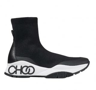 Jimmy Choo Raine Sock/F stretch-knit high-top trainers