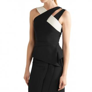 Roland Mouret Two Tone Thornhill Crepe Top