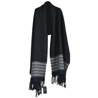 Saint Laurent Embellished Wool Blend Shawl