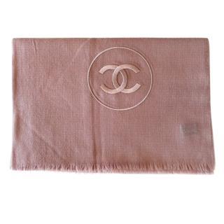 Chanel Pink Cashmere CC Stole