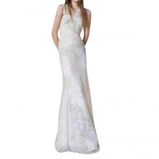 Vera Wang Ivory Mermaid Chantilly Lace Bridal Gown