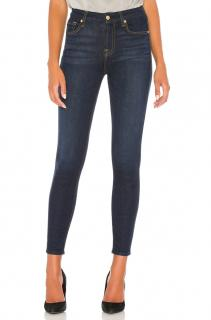 7 For All Mankind High Waisted Ankle Crop Skinny Jeans