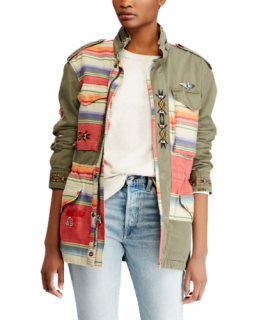 Polo Ralph Lauren Patchwork Aztec Embroidered Field Jacket